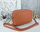 Женская сумка-клатч оранжевого цвета, эко кожа, фото 3