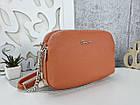 Женская сумка-клатч оранжевого цвета, эко кожа, фото 4