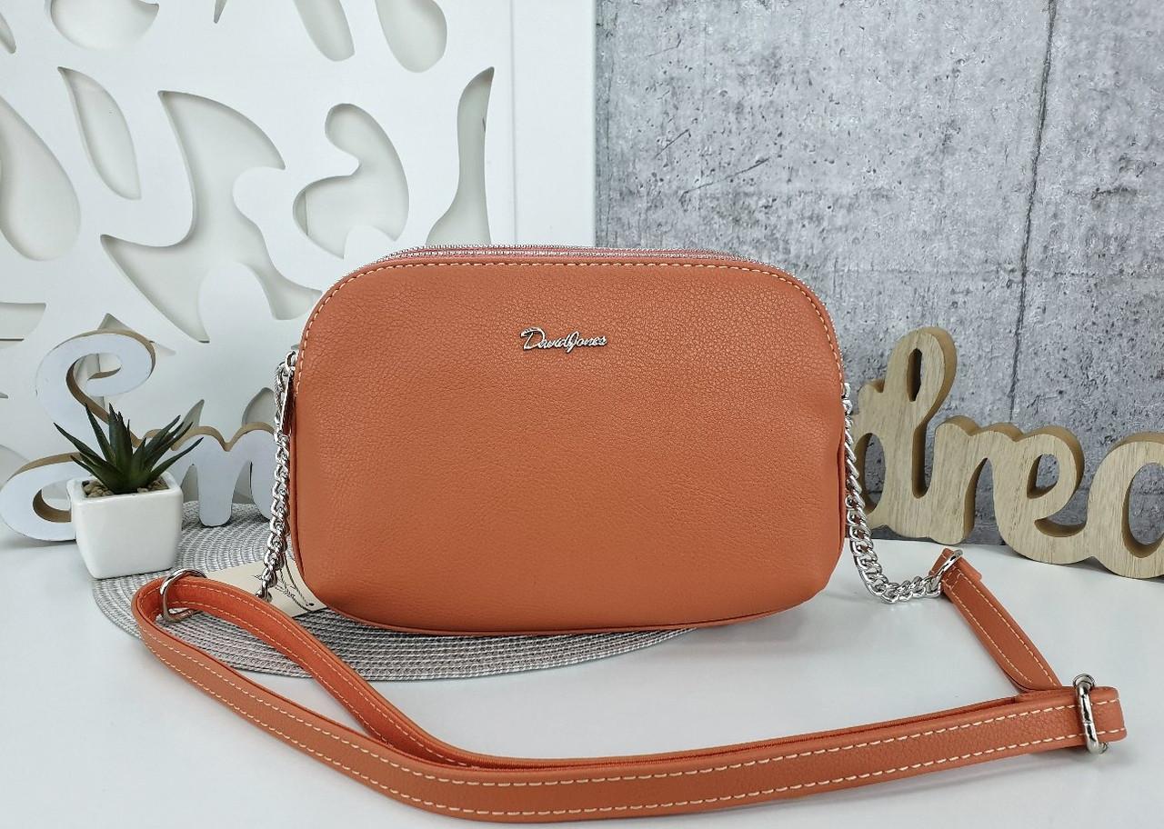 Женская сумка-клатч оранжевого цвета, эко кожа