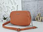 Женская сумка-клатч оранжевого цвета, эко кожа, фото 5