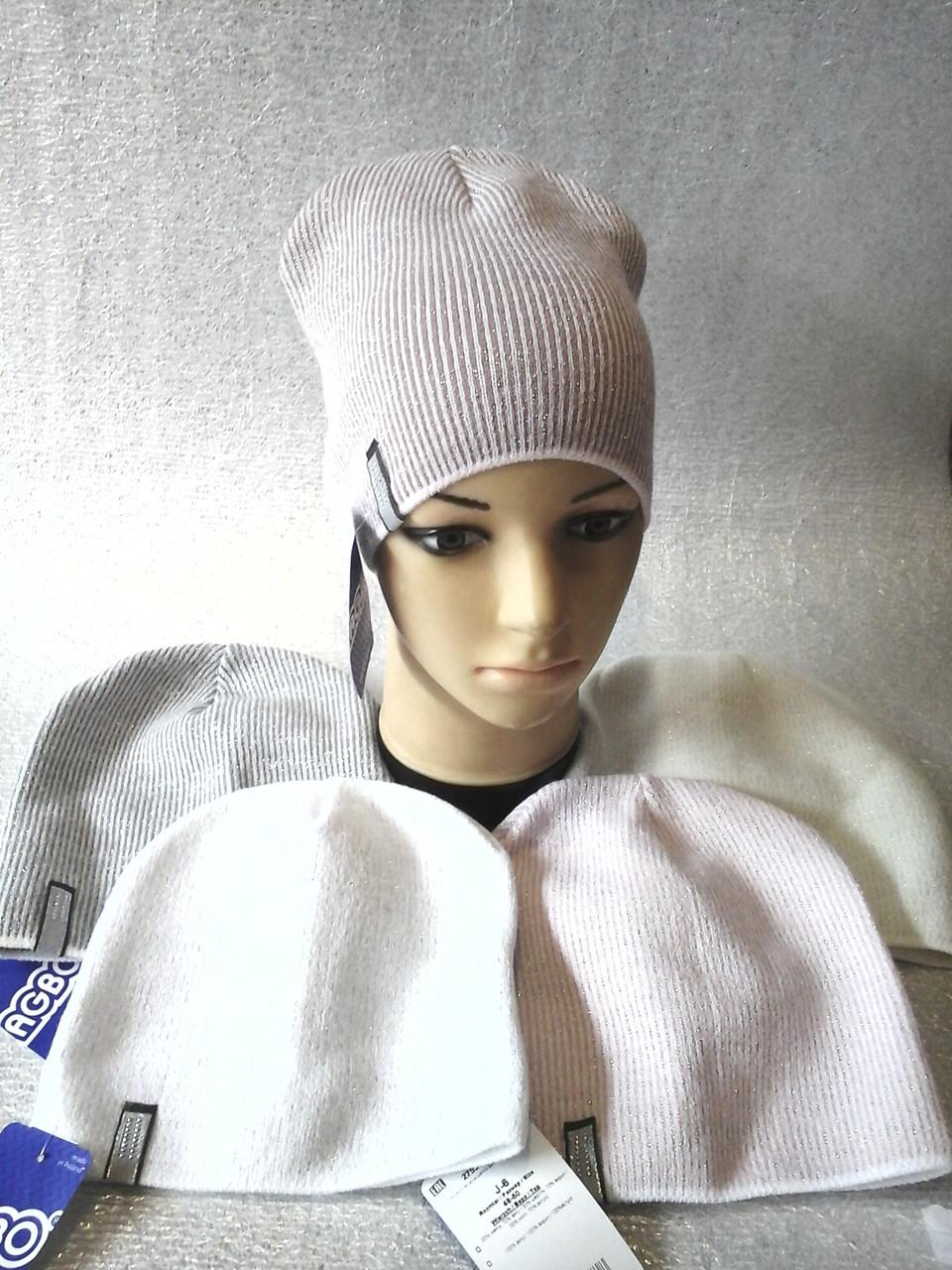Шапочка вязанная с люрексом