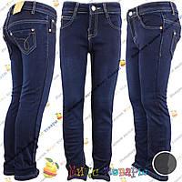 Cиние джинсы с флисом для девочек от 6 до 12 лет (vn3714)
