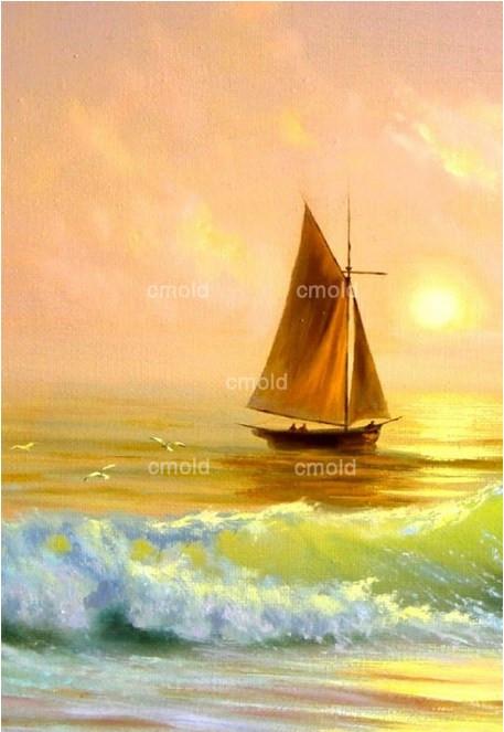 Лодки алмазная вышивка