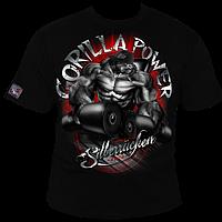Футболка мужская для бодибилдинга Silberrucken Gorilla Power 10 черная М