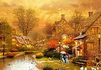 """Алмазная вышивка набор """"Осенний городок на берегу реки"""""""