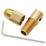 Патрон цанговый на вал 3.17 мм. зажим 0.5 мм. - 3.0 мм. + 5 цанг + ключ. Для  мини дрели, фото 3