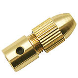 Патрон цанговый на вал 3.17 мм. зажим 0.5 мм. - 3.0 мм. + 5 цанг + ключ. Для  мини дрели, фото 4