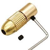 Патрон цанговый на вал 3.17 мм. зажим 0.5 мм. - 3.0 мм. + 5 цанг + ключ. Для  мини дрели, фото 5