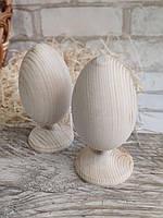 Яйце дерев'яне на ніжці - заготовка для творчості, із дерева, для крашенки, вис. 13 см., 30 грн.