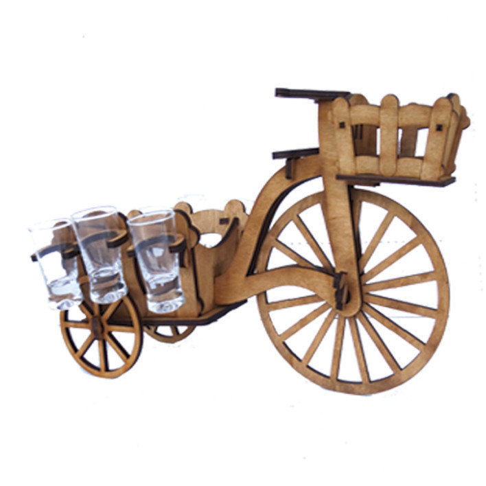 Міні-бар велосипед із чарками В-003
