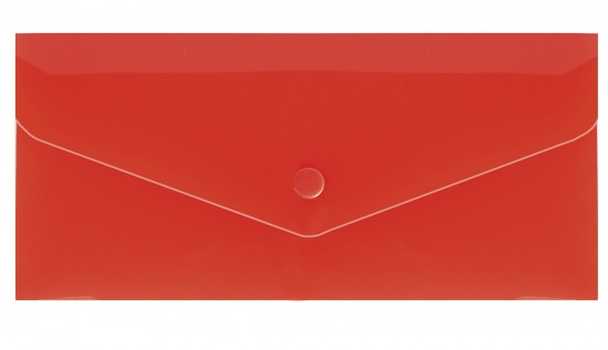 """Євроконверт Е65 прозорий на кнопці, 180 мкм, фактура """"глянець"""", червоний N31306-03"""