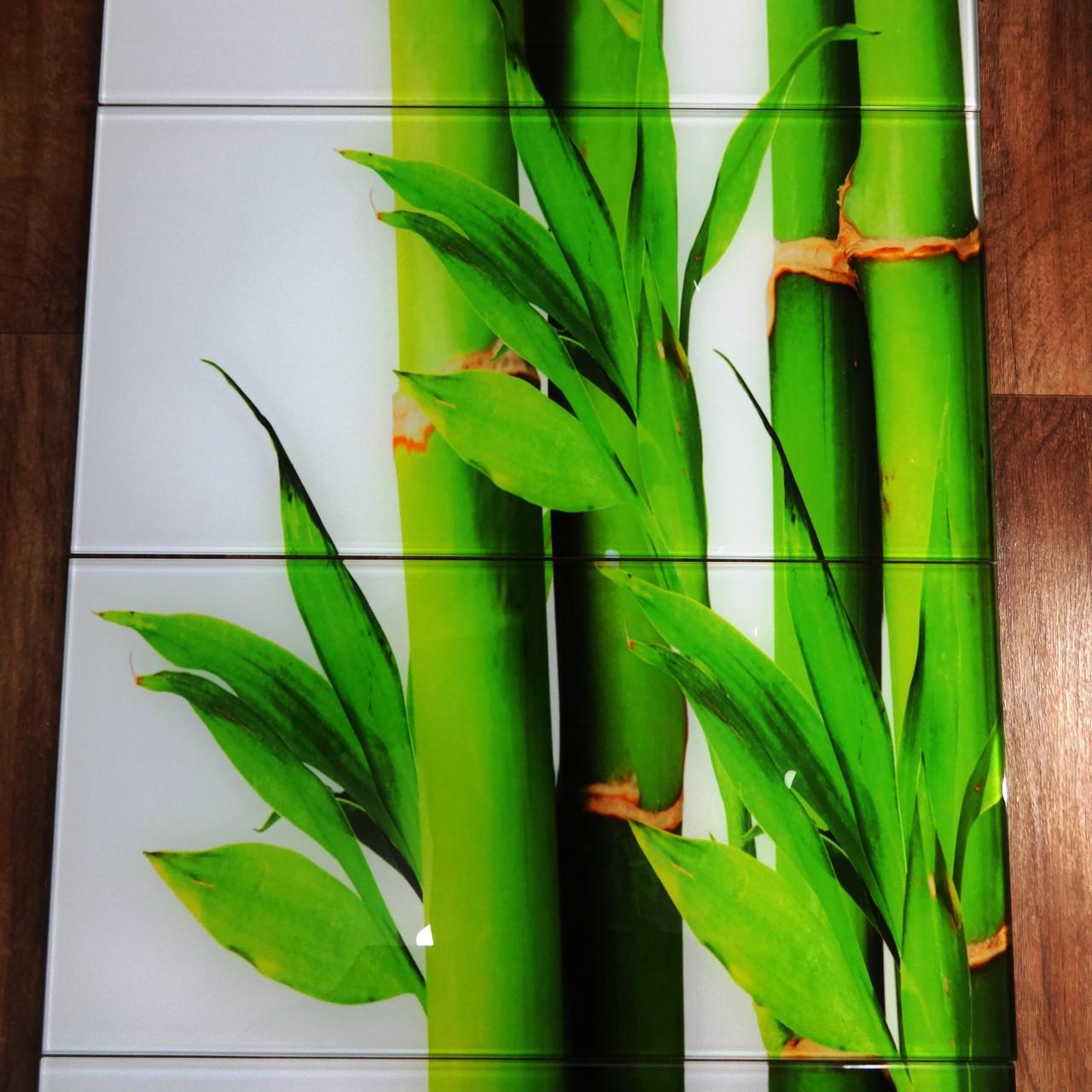 Стеклянная плитка Панно Бамбук 7 шт 30х60