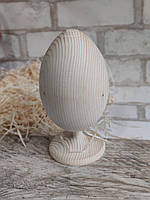 Заготовка для творчості - яйце дерев'яне на ніжці, із дерева, для крашенки, вис. 15-18.5 см., 40 грн.