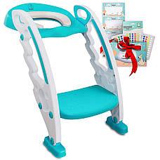 Детское сиденье для унитаза со ступеньками — Children`s Toilet Trainer, фото 2