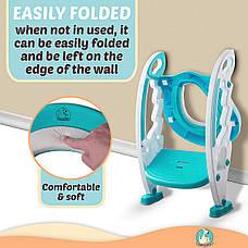 Детское сиденье для унитаза со ступеньками — Children`s Toilet Trainer, фото 3