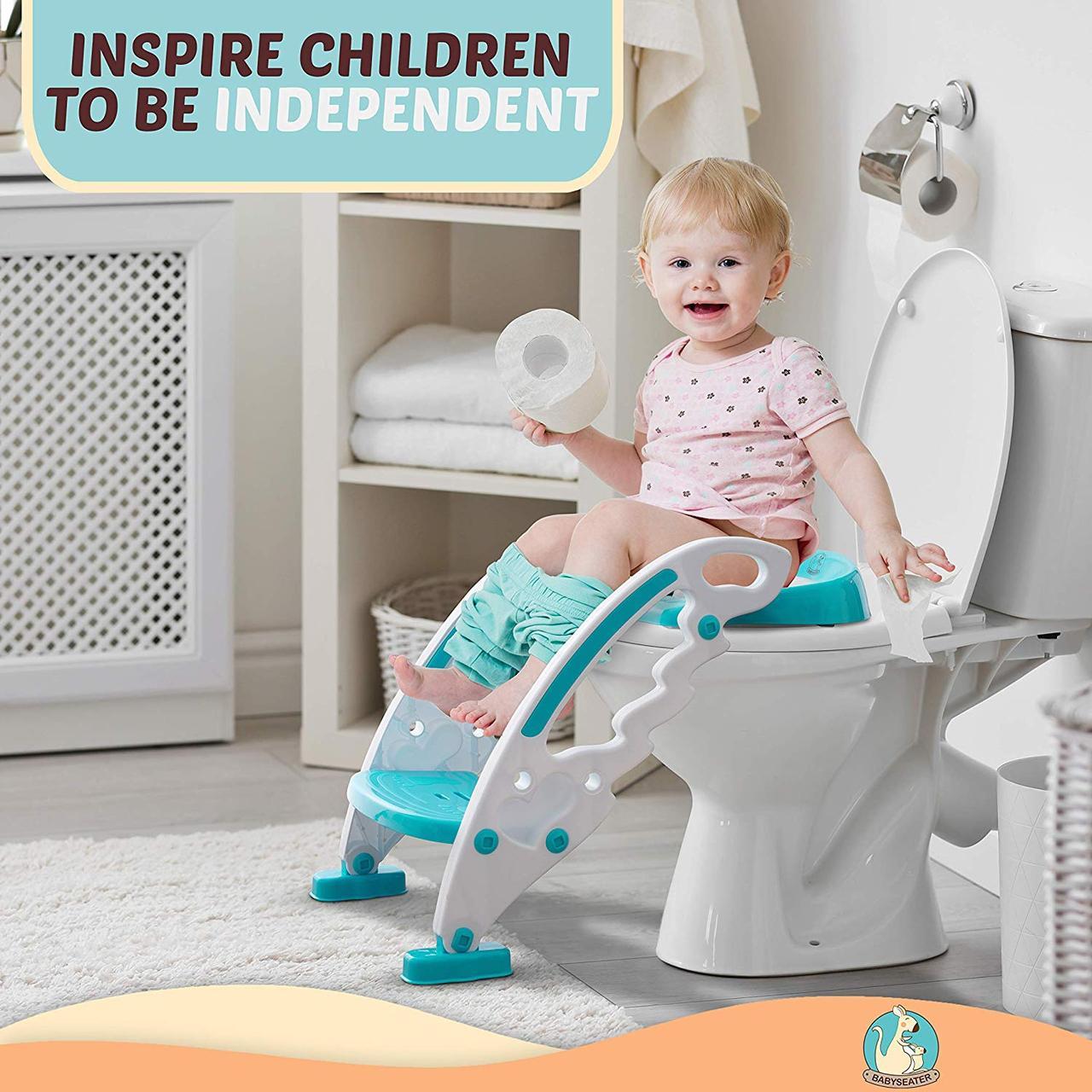 Детское сиденье для унитаза со ступеньками — Children`s Toilet Trainer