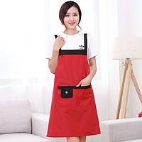 Фартук кухонный женский с карманом