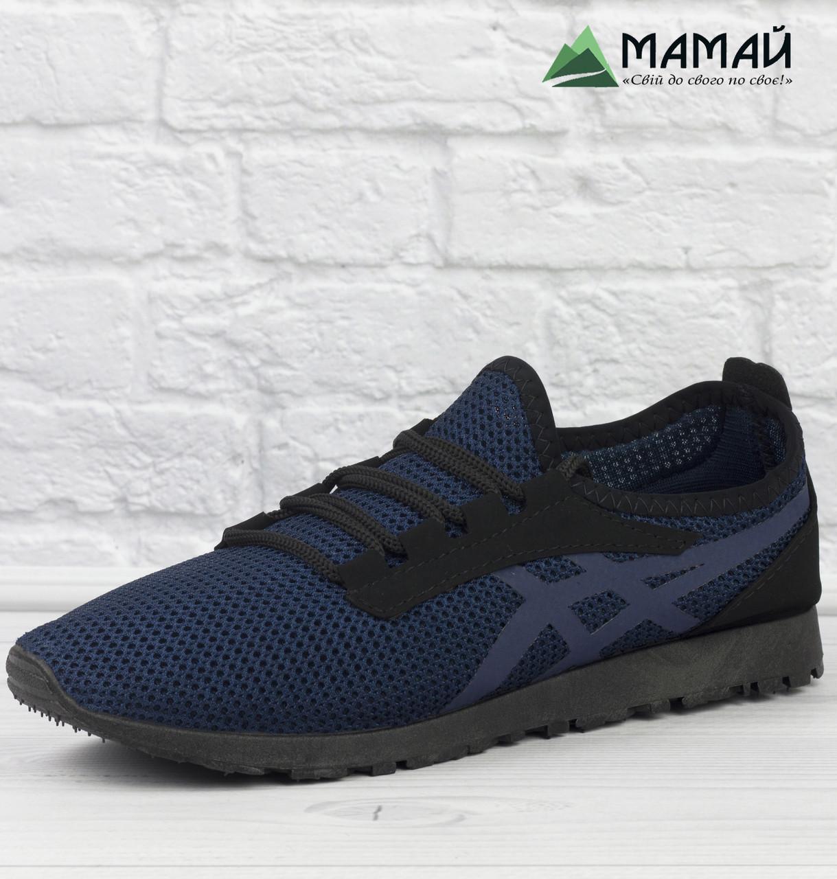 Кроссовки мужские сетка синие 40р