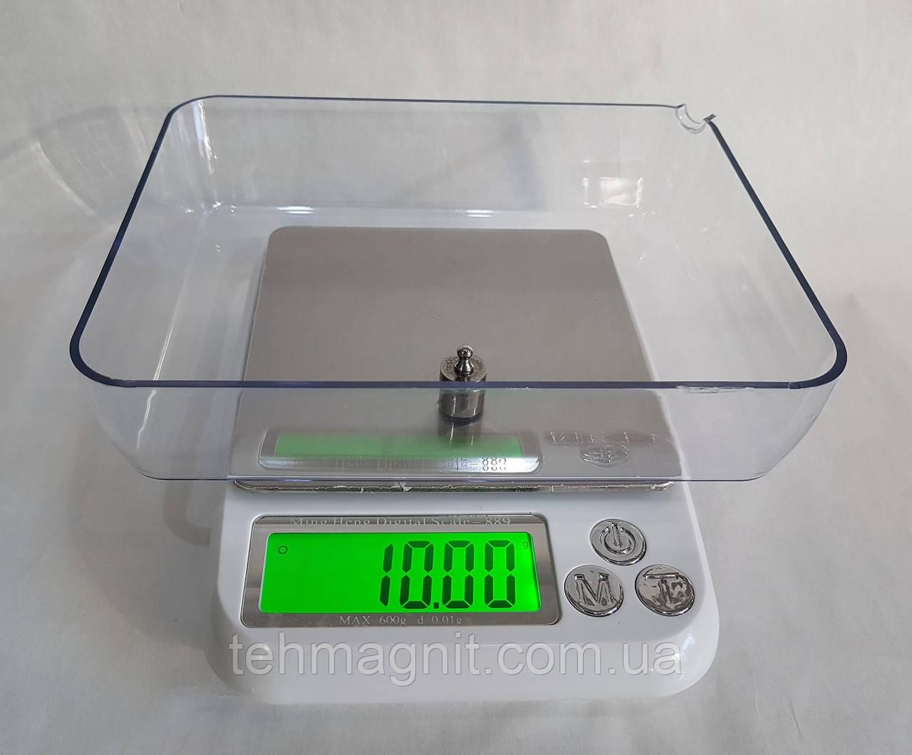 Ювелирные лабораторные электронные веса MH 889 до 600 г
