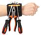Магнитный браслет со встроенными суперсильными магнитами крепления винтов, гвоздей, болтов, фото 2