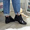Ботинки женские лаковые на шнуровке, фото 3