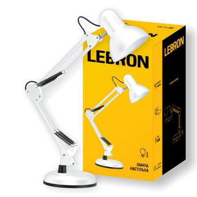 Лампа настольная телескопическая LEBRON L-TL-TEL, E27, 40W, Белая