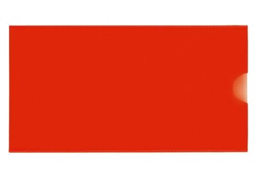 """Евроконверт Е65, загрузка по короткой стороне, 180 мкм, фактура """"глянец"""", красный"""