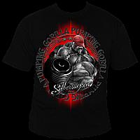 Футболка мужская для бодибилдинга Silberrucken Gorilla Power 3 черная L