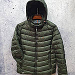 Чоловіча куртка vinyl Black C19-1528, фото 2