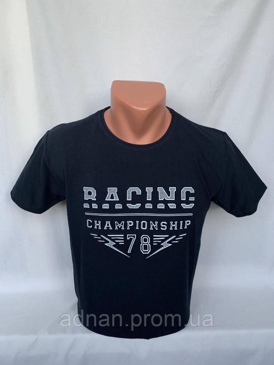 Футболка мужская RBS, накатка стрейч коттон RACING 007 \ купить футболку мужскую оптом