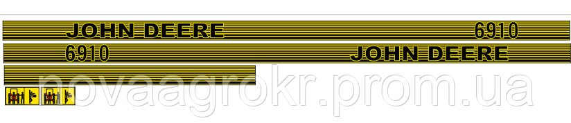 Комплект наклеек на трактор John Deere 6910