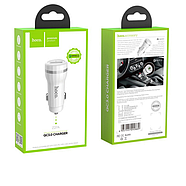 Зарядка для авто Hoco Z27A Staunch single port in-car QC3.0 charger 1USB 3.1A White, фото 2