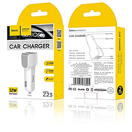 Зарядка для авто Hoco Z23 grand style dual-port car charger 2USB 2.4A White, фото 2