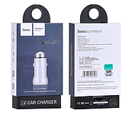 Зарядка для авто Hoco Z4 QC2.0 Car charger 1USB 2.1A Silver, фото 2