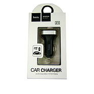Зарядка для авто Hoco Z3 LCD car charger 2USB 3.1A Black, фото 2