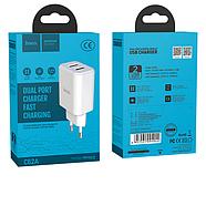 СЗУ Hoco C62A Victoria dual port charger(EU) 2USB 2.1A White, фото 2