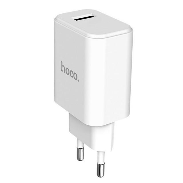 СЗУ Hoco C61A Victoria single port charger(EU) 1USB 2.1 A White