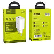 СЗУ Hoco C61A Victoria single port charger(EU) 1USB 2.1 A White, фото 2