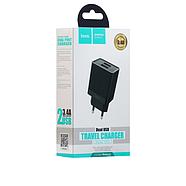 СЗУ Hoco C51A Prestige power dual port charger(EU) 2USB 3.4A Black, фото 2