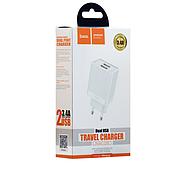 СЗУ Hoco C51A Prestige power dual port charger(EU) 2USB 3.4A White, фото 2
