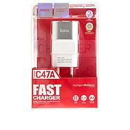 СЗУ Hoco C47A Metal dual port charger(EU) 2USB 2.1 A Silver, фото 2