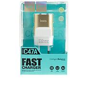 СЗУ Hoco C47A Metal dual port charger(EU) 2USB 2.1A Gold, фото 2