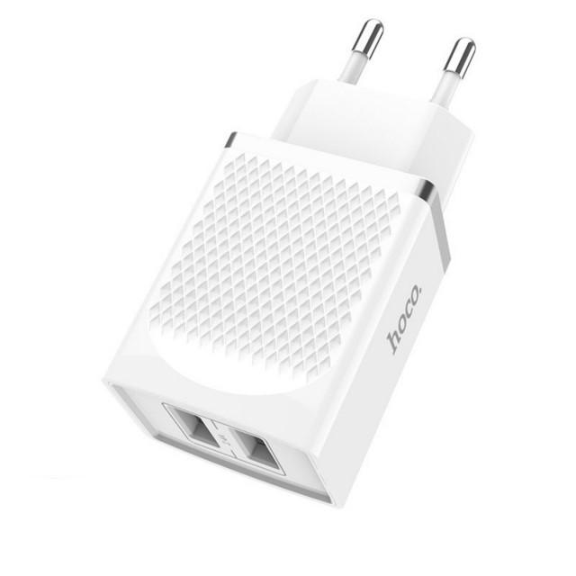 СЗУ Hoco C43A Vast power dual port charger(EU) 2USB 2.4A White