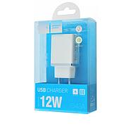 СЗУ Hoco C43A Vast power dual port charger(EU) 2USB 2.4A White, фото 2