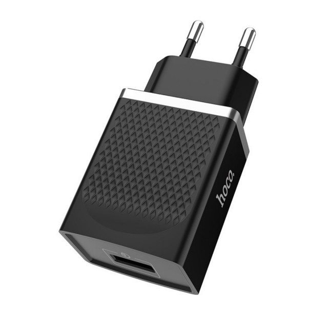 СЗУ Hoco C42A Vast power QC3.0 single port charger(EU) 1USB 3A Black