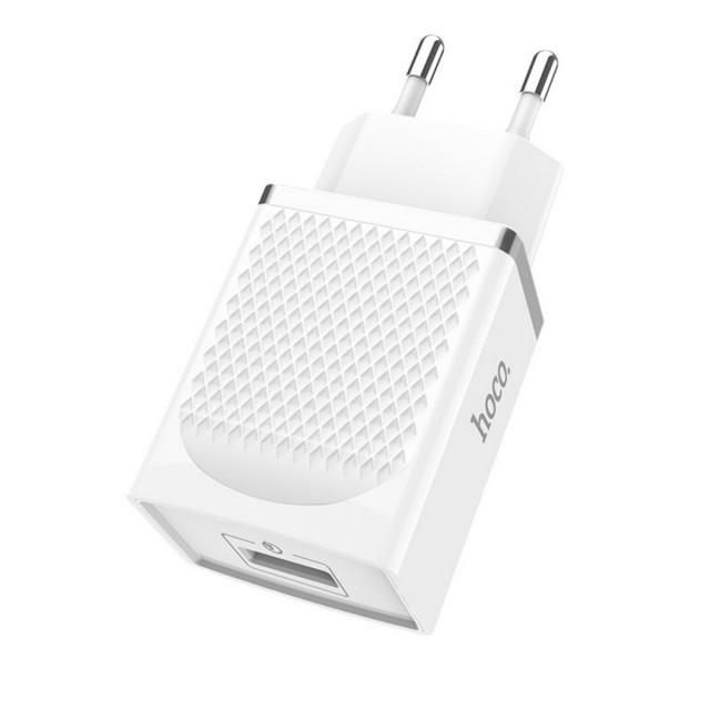 СЗУ Hoco C42A Vast power QC3.0 single port charger(EU) 1USB 3A White