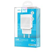 СЗУ Hoco C42A Vast power QC3.0 single port charger(EU) 1USB 3A White, фото 2