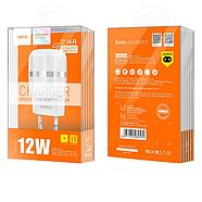 СЗУ Hoco C41A Wisdom Dual Port Charger(EU) 2USB 2.4 A White, фото 2