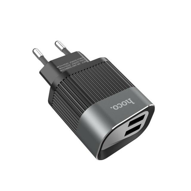 СЗУ Hoco C40A Speedmaster Dual Port Charger(EU) 2USB 2.4A Black