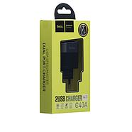 СЗУ Hoco C40A Speedmaster Dual Port Charger(EU) 2USB 2.4A Black, фото 2
